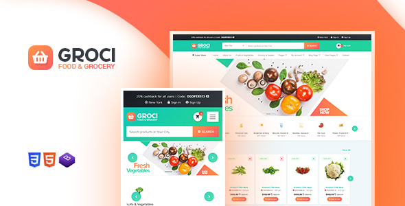 Groci v1.3 – Organic Food and Grocery Market WordPress Theme