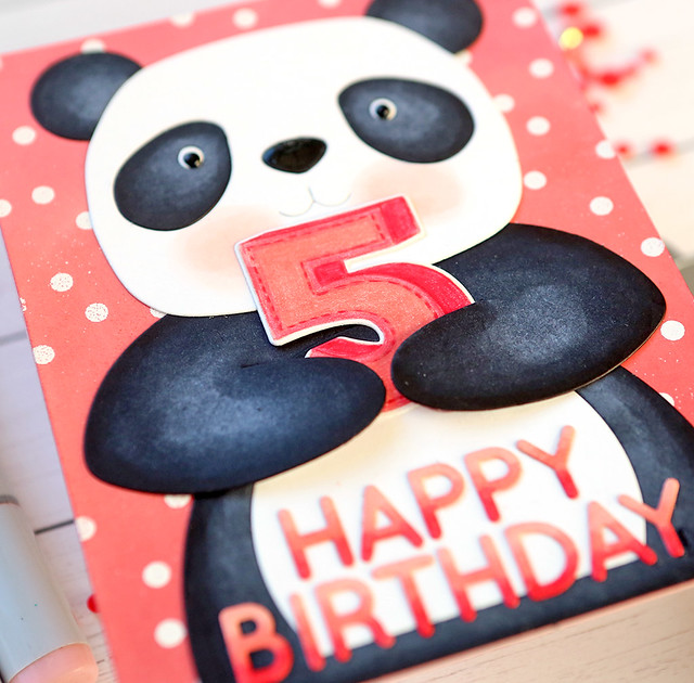 happy birthday panda close up