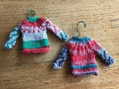 Omg! Knitnut246's Tiny Sweaters are so cute!! - pattern is Minutia '14 from Berroco Design Team