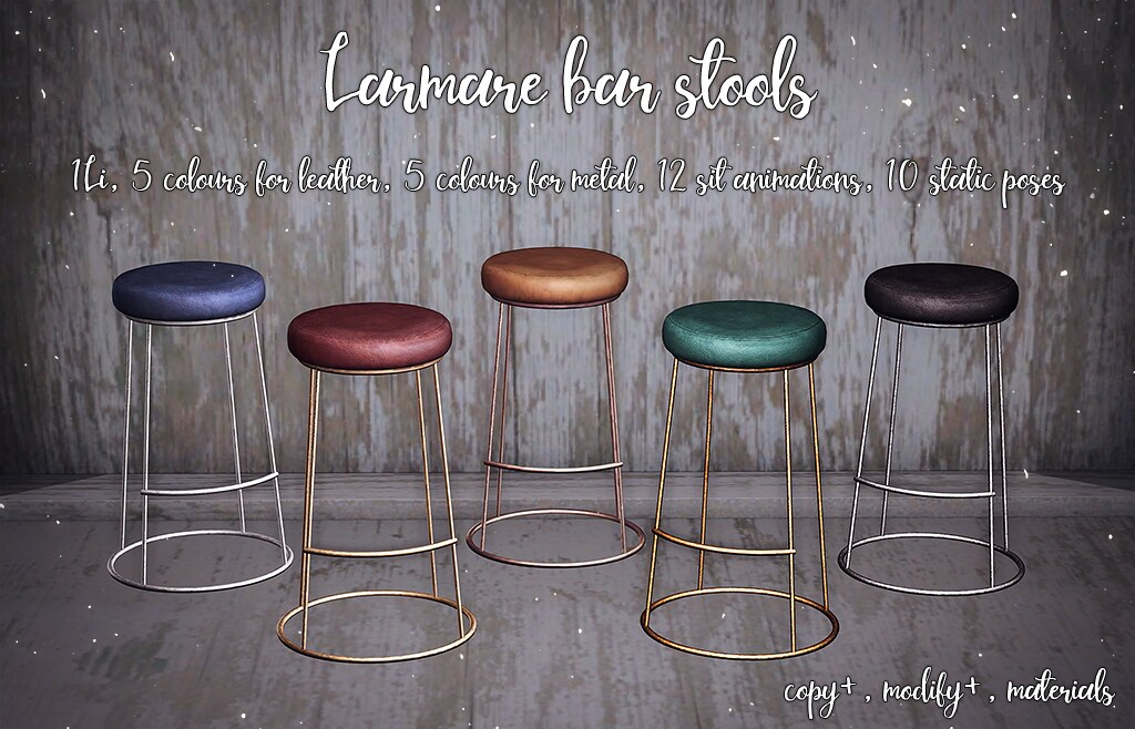 Larmate bar stools @TLC