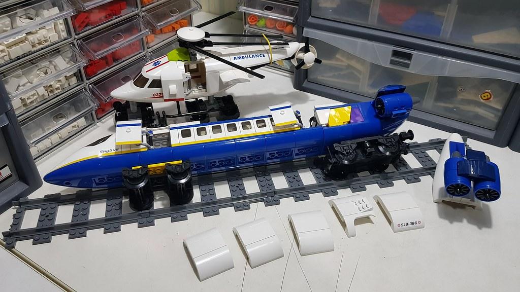 MOC] Plane train - LEGO Train Tech - Eurobricks Forums
