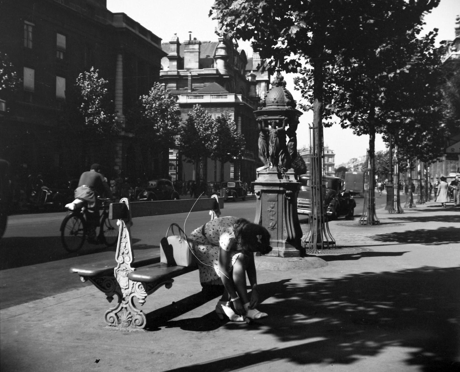 1939. Иль-де-ла-Сите, бульвар дю Пале в направлении Шатле