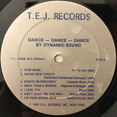 DYNAMIC SOUND:DANCE DANCE DANCE(LABEL SIDE-B)