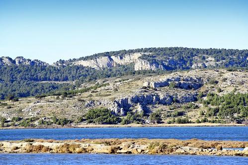 France, la garigue et les étangs marin du vieux Gruissan