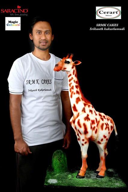 Baby White Giraffe Cake by Srikanth Kakarlamudi