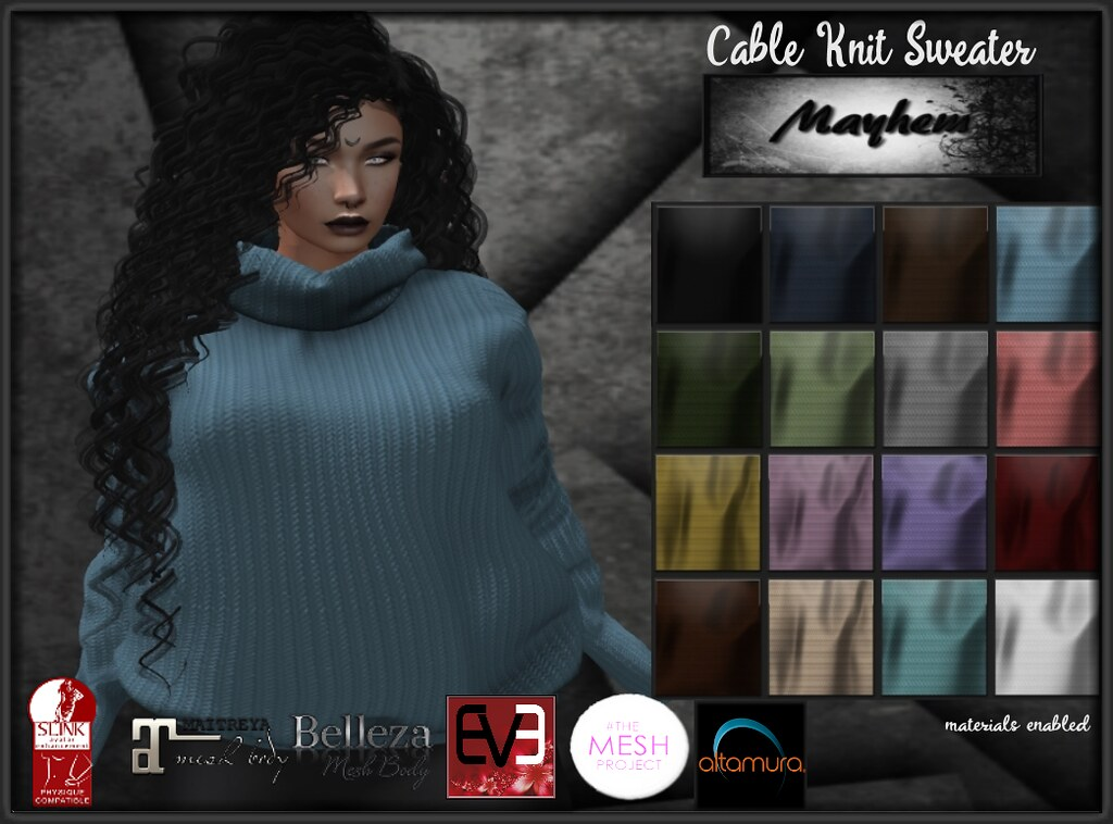Mayhem Cable Knit Sweater AD
