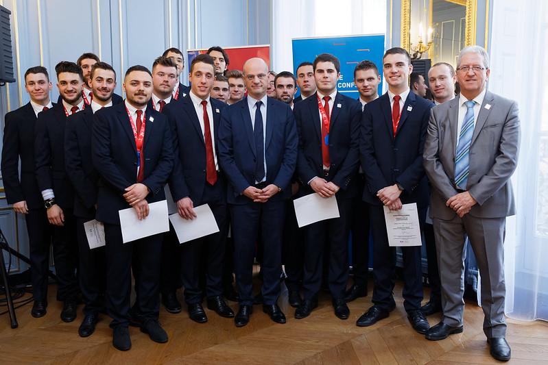 WorldSkills France: l'équipe de France des métiers 2018 récompensée
