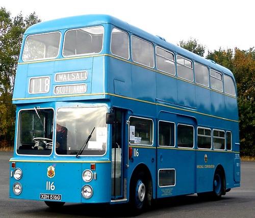 XDH 516G 'Walsall Corporation Transport' No. 116. Daimler Fleetlne / Northern Counties on Dennis Basford's railsroadsrunways.blogspot.co.uk'