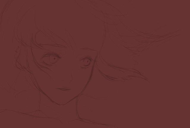 Pink hair Old Sketch