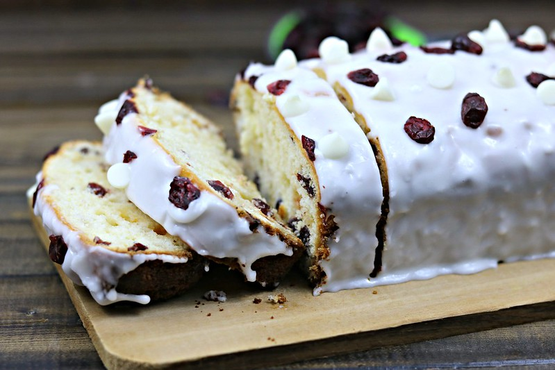 Orange Cranberry White Chocolate Chip Bread with Orange Glaze