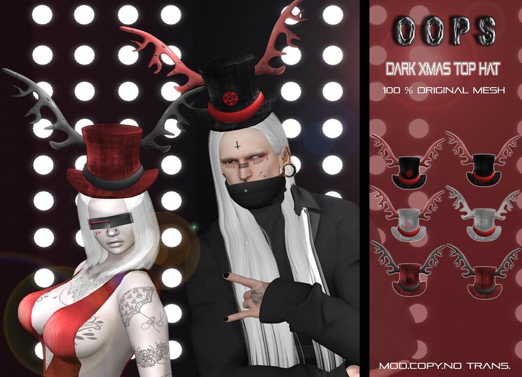 ::OOPS:: Dark Xmas Top Hat - TeleportHub.com Live!