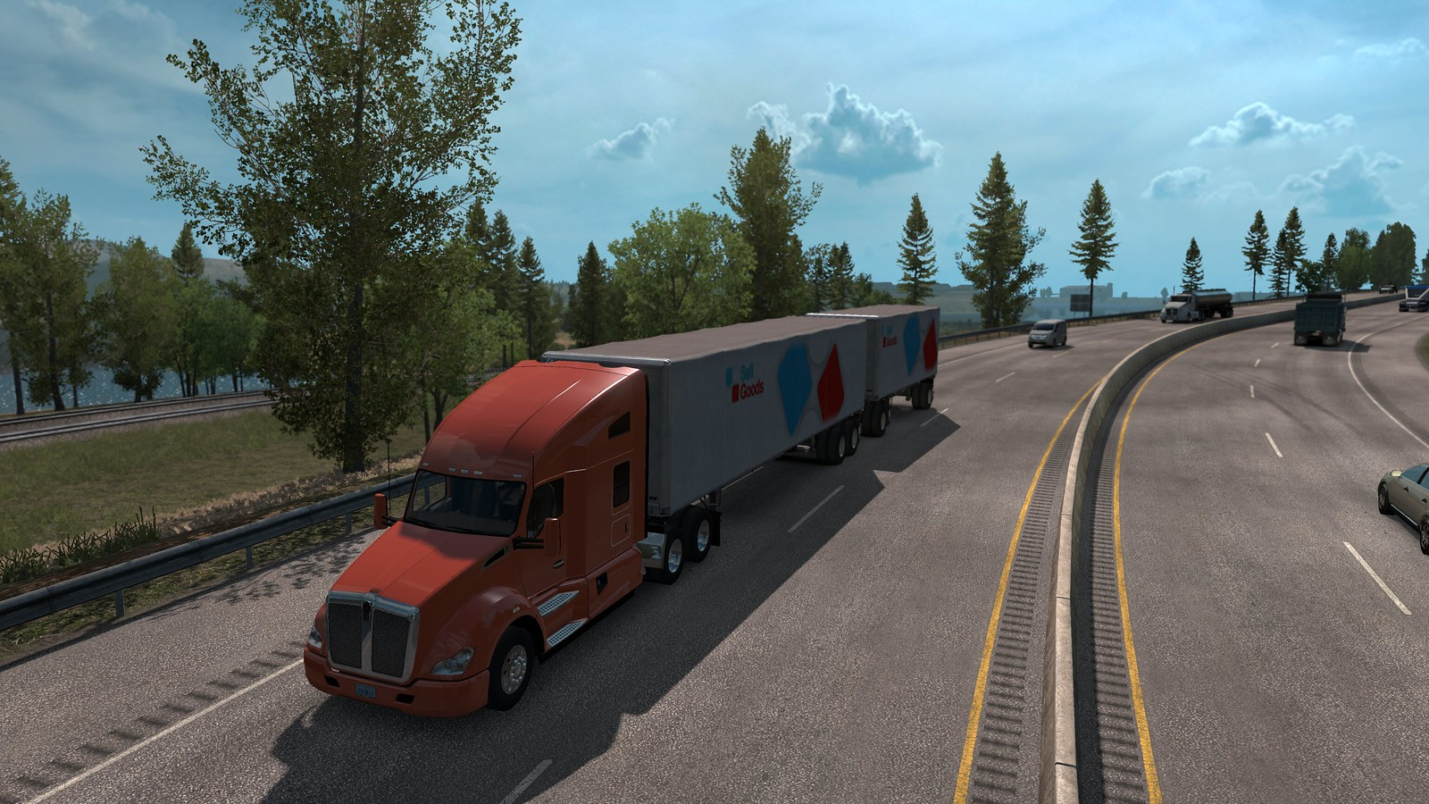 Multiple Trailers in Traffic - ATS - v5 0 - SCS Software