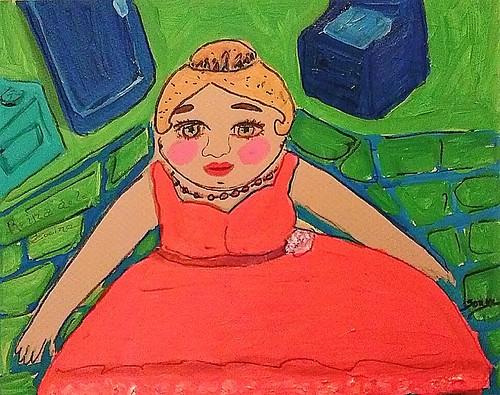 reina de cocina. From Art, Memories, and Poetry: La Bolsa–The Purse, by Sonya Gonzalez