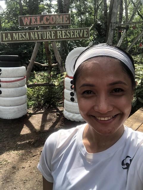 Running in La Mesa Nature Reserve