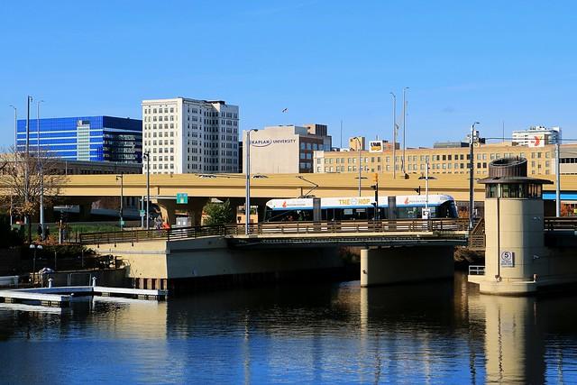 The Hop crossing The St Paul Avenue Bridge