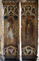 rood screen (south): St Jude and St Matthew (15th Century)