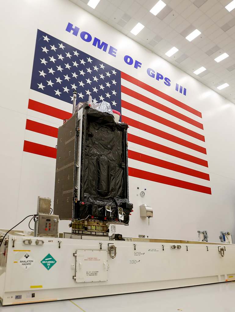 First Lockheed Martin-built GPS III Satellite Packed/Shipped for Launch