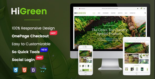 HiGreen v1.0.1 – Multipurpose OpenCart Theme for Online Shop