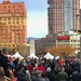 Panorama of the scene at Victory Square