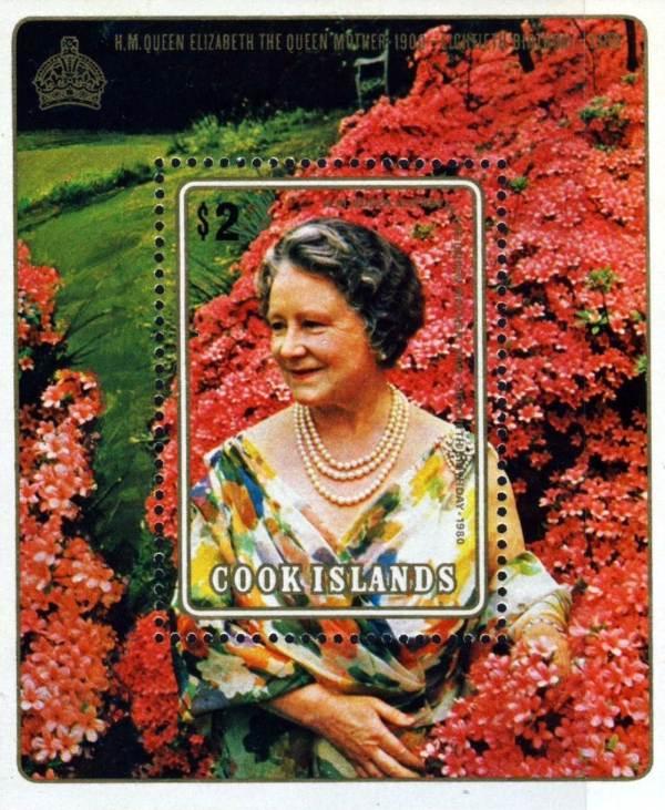 Známky Cookove ostrovy 1980 Kráľovna matka