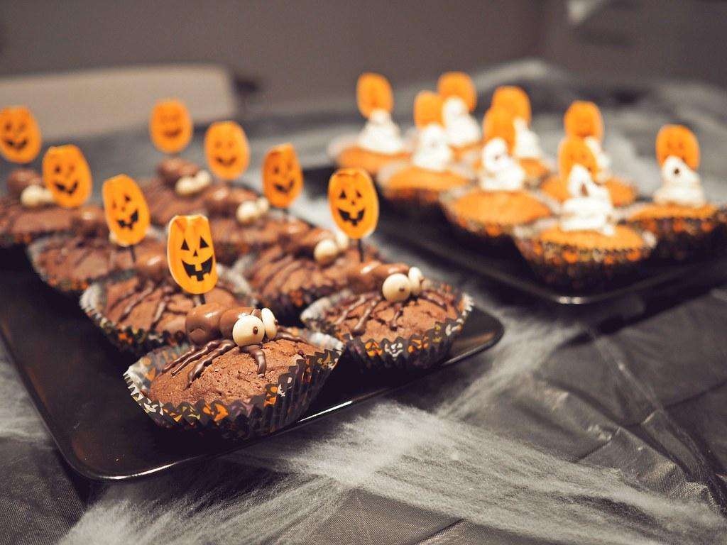 halloween hämähäkkimuffinsit tarjoiluvinkit halloween