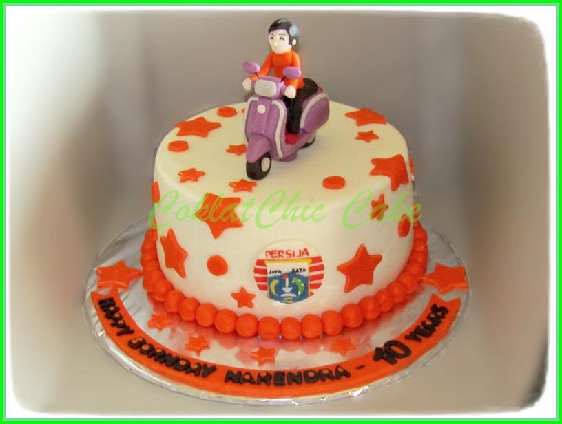 Cake Vespa Persija NARENDRA  18 cm