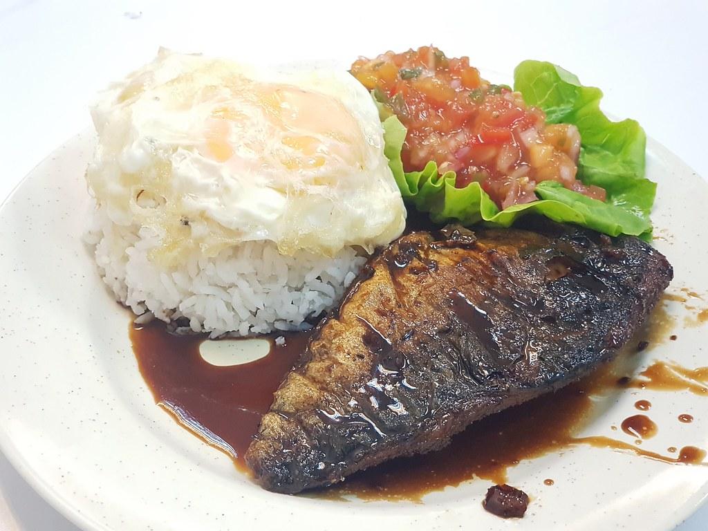 烤沙巴鱼配自制酱油 Grilled Saba Fish w/Home-made Soy Sauce rm$9.90 @ Little Chef KL Wisma Cosway