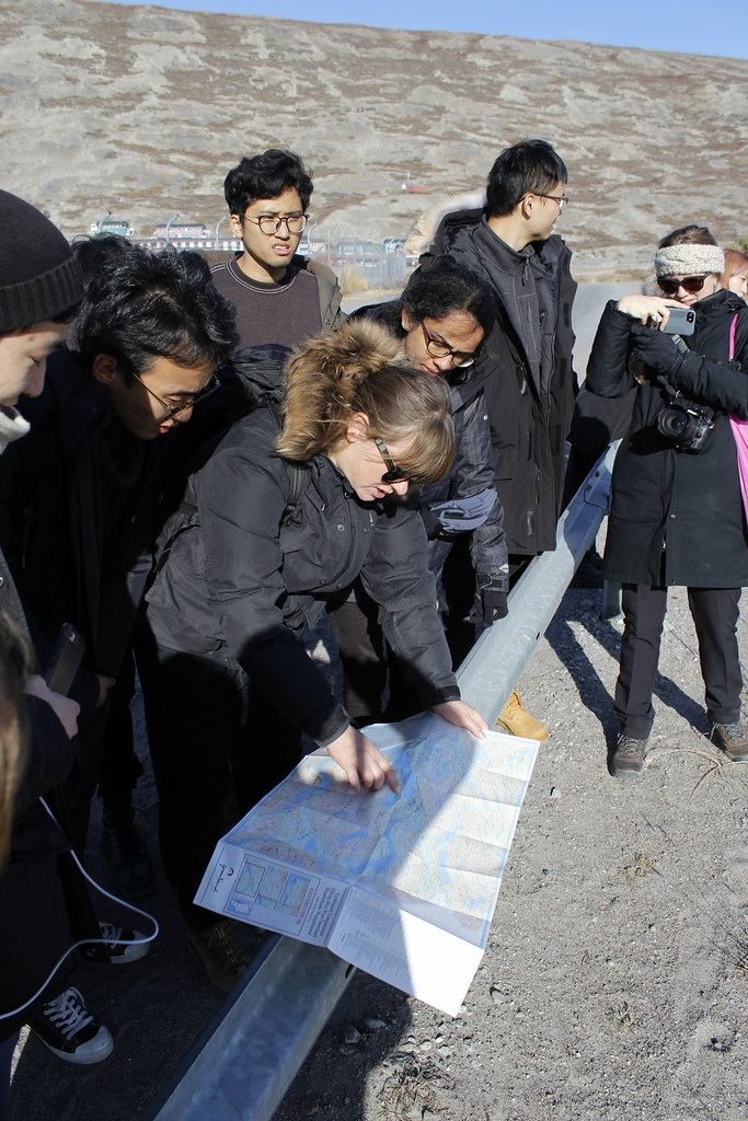 Architecture students in Dorte Mandrup and Marianne Hansen's option studio, Conditions: Architectural Interventions in the Arctic, involved in Greenland site planning.   photo / Roberto Villasante (B.Arch. '20)