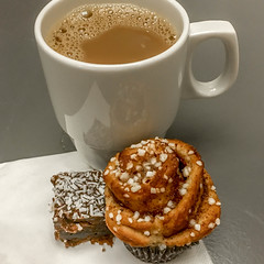 Cup of Coffee and a Cinnamon Bun