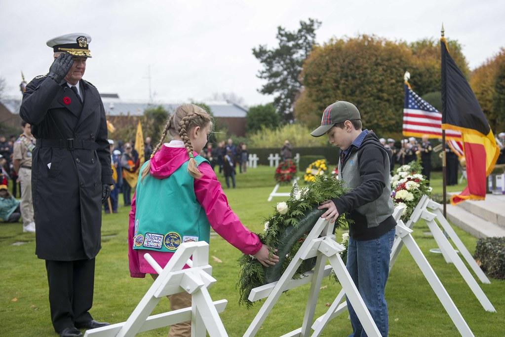 Adm. Foggo commemorates Armistice Day in Belgium