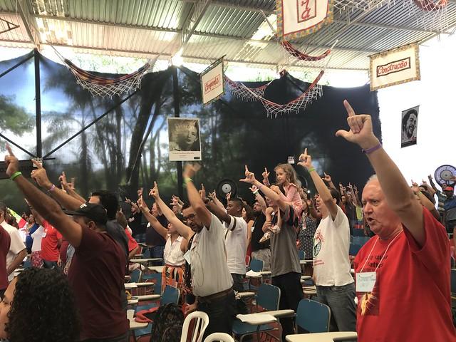Ato político ocorreu na Escola Nacional Florestan Fernandes - Créditos: Rute Pina / Brasil de Fato