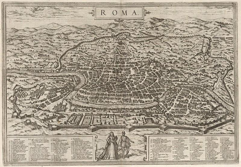 Georg Braun & Franz Hogenberg - Roma (1575)