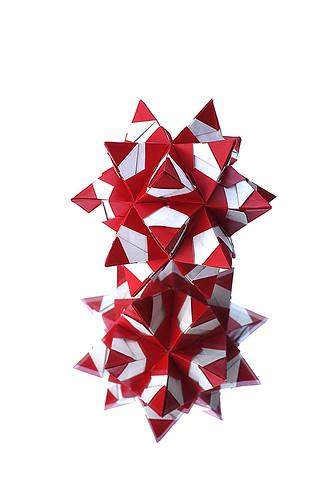 Origami Kusudama Santa (Irina Kasatonova)