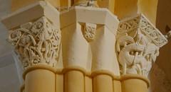 Chapiteaux, église romane Saint Martin (XIIe), Arces, Saintonge, Charente-Maritime, Nouvelle-Aquitaine. - Photo of Grézac