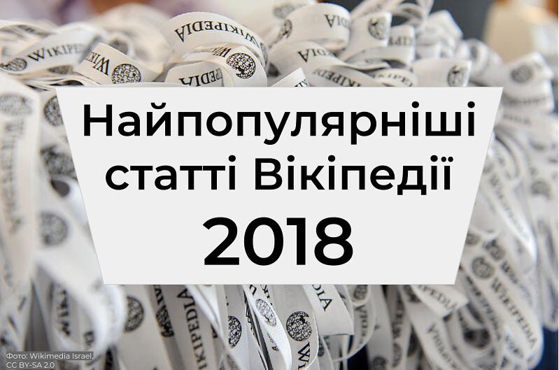 Найпопулярніші статті Вікіпедії 2018