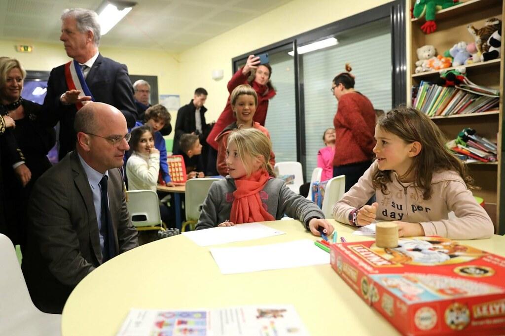 Déplacement dans une école primaire dans les Hautes-Alpes