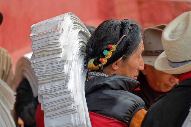 Printers are ready to print, Tibet 2018