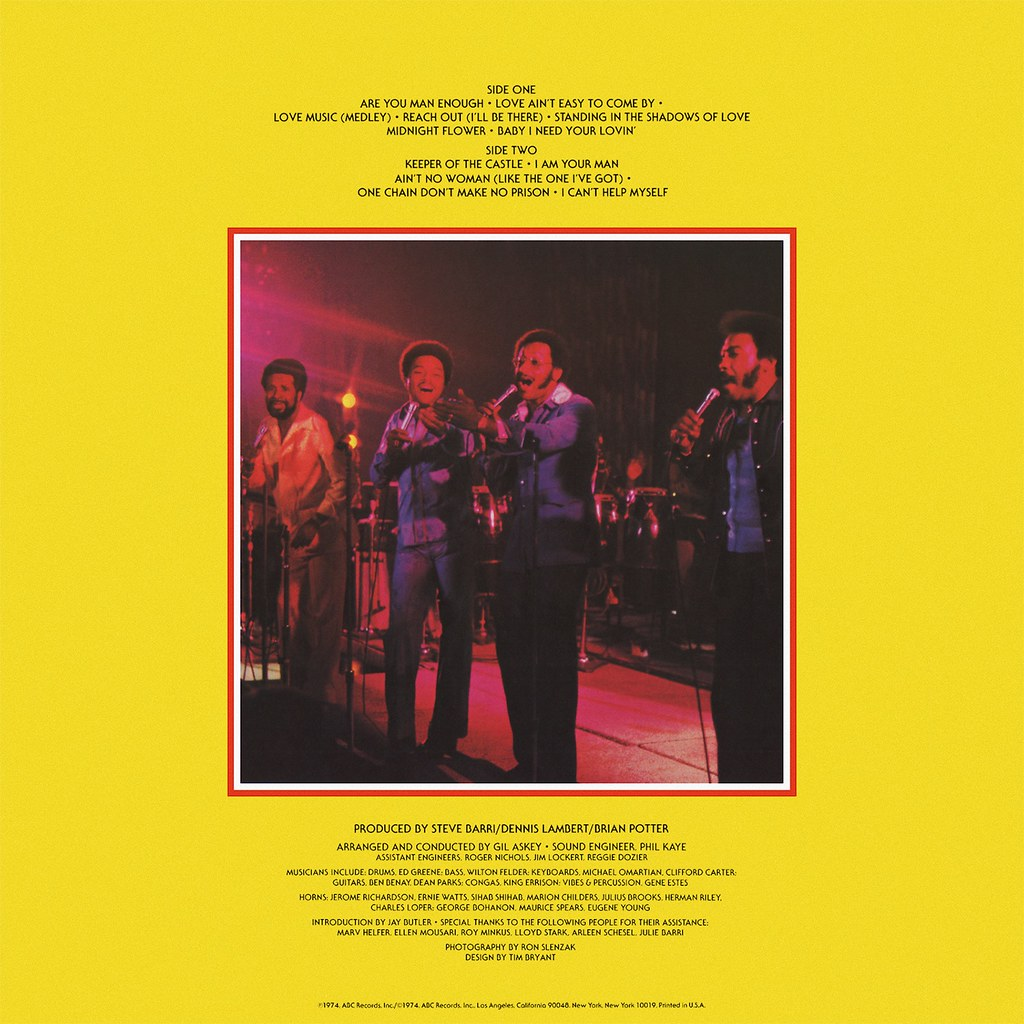 The Four Tops - Live & In Concert