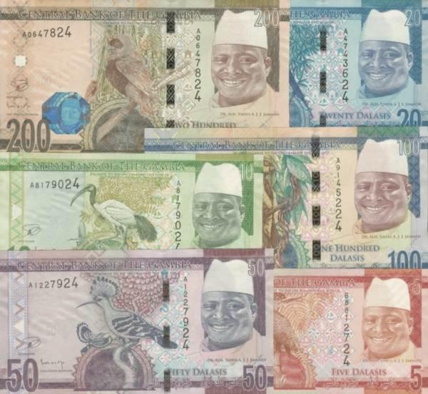 Sada 5-200 Dalasis Gambia 2015, P31-36