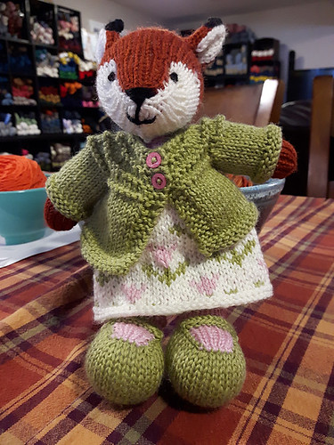 She also knit the Girl Fox. We love all of Julie William (Little Cotton Rabbits) patterns!