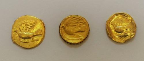 Gold coins found in Tenea Greece