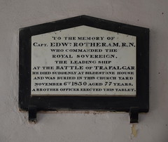 commanded the Royal Sovereign, the leading ship at the Battle of Trafalgar