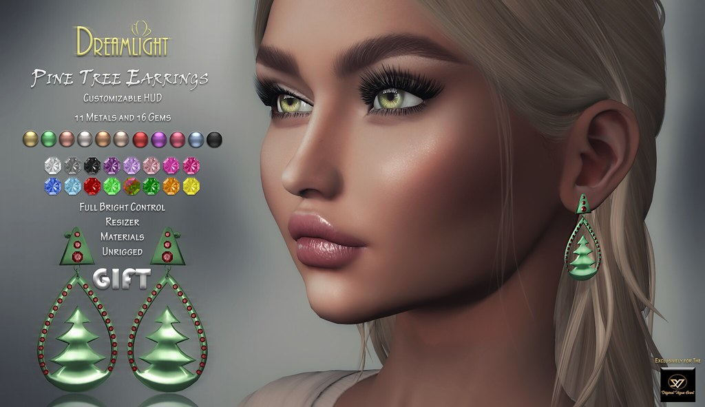 [Dreamlight] Pine Tree Earrings /GIFT/ Original Vogue Event