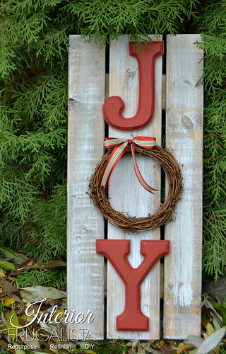 Holiday Handmade Christmas JOY Sign 600
