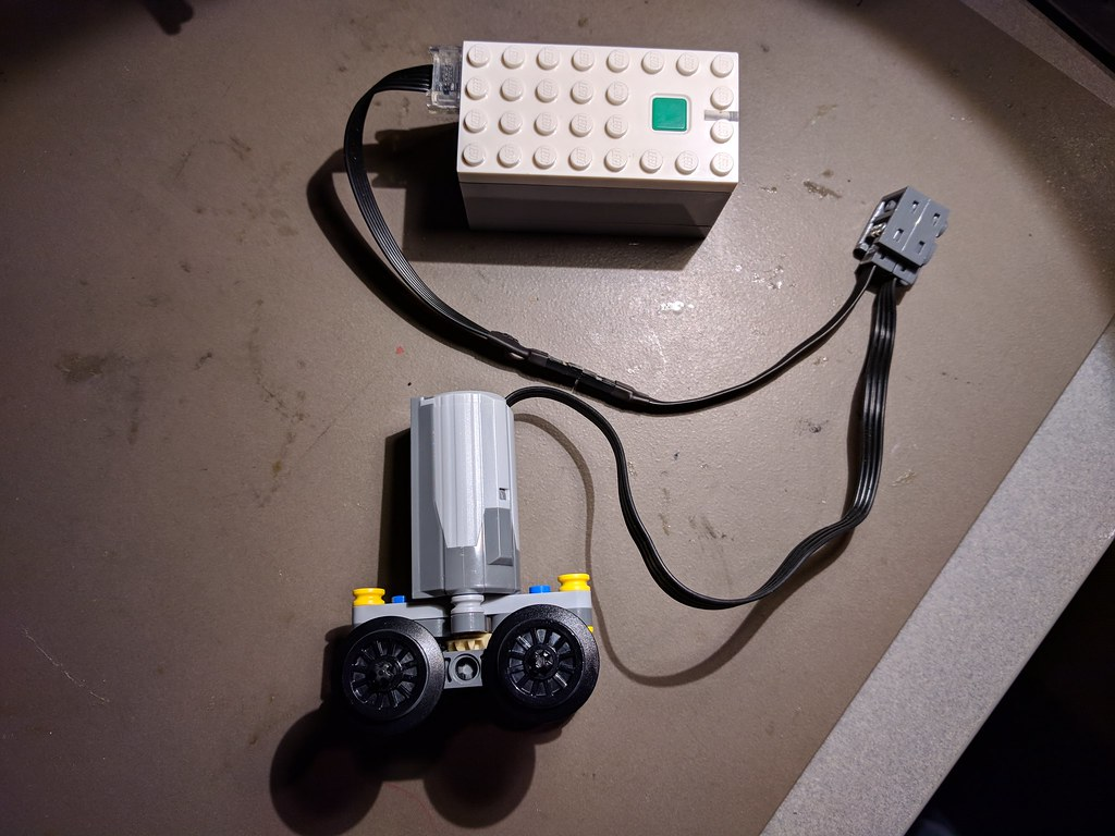 LEGO Power Functions motor connected to Powered Up Hub