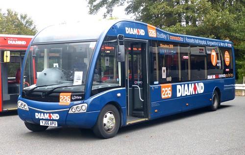 YJ66 APU 'DIAMOND' '226'. Optare Solo M9959SR on Dennis Basford's railsroadsrunways.blogspot.co.uk'