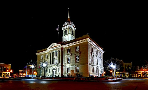 Maury County Courthouse at Night DSC_0406_A1a