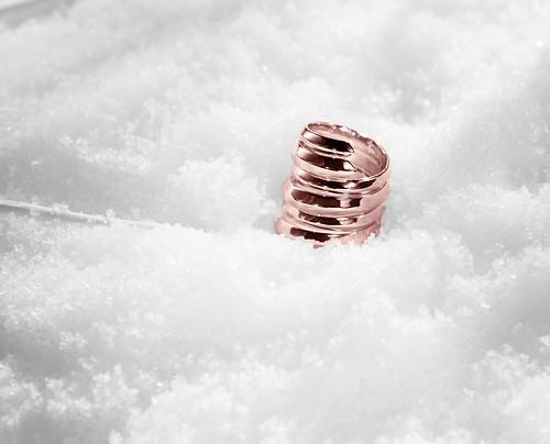 Spiral Rose Gold Ring Set