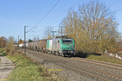 BB 27038 Train 489058 Sibelin-Mulhouse Nord à Retzwiller