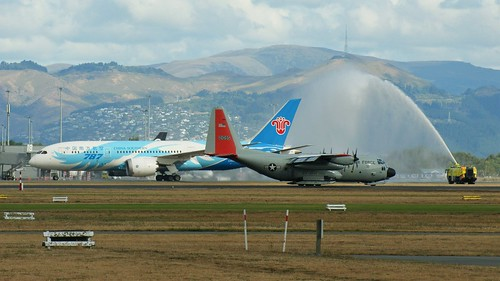 China Southern's first scheduled commercial flight to Chch (5)
